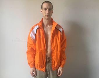 Vintage Orange Adidas Windbreaker Jacket