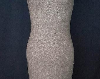 1960s gold Lurex dress