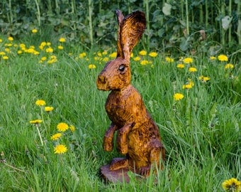 Small Hare Chainsaw Carving