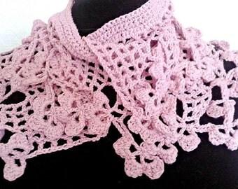 Crochet shamrock scarf