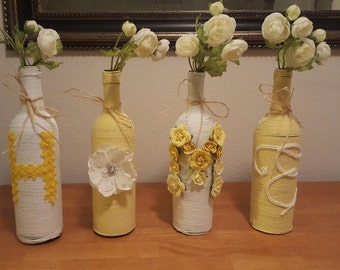 Decorated Wine bottles for HOME