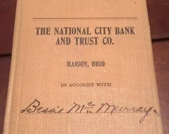 The National City Bank & Trust Co Marion OH 1925 Bank Book