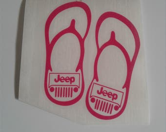 jeep flip flop sandal decal