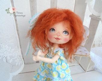 Art doll, fabric doll, rag doll, textile doll, interior doll, OOAK doll, cloth doll, home decor, vintage doll, Doll, Soft doll,