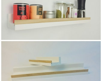 Shelf, white oak, 50cm