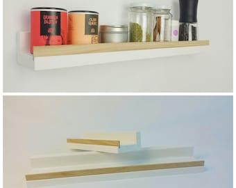 Shelf, white oak, 50cm