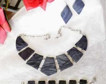 Jewelry Set. 3 Piece Set: Necklace, Earrings, Bracelet