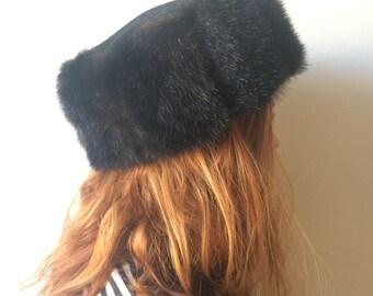 Russian imitation fur hat