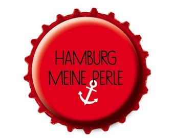 Bottle Cap magnet Hamburg, my Pearl