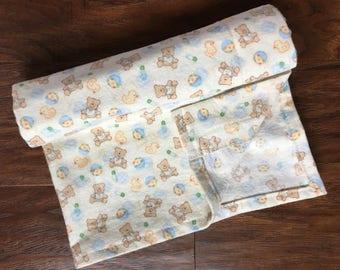 Flannel Receiving Blanket, Bear Baby Blanket, Teddy Bear Pattern, Duckie Pattern, Teddybear Baby Blanket, Baby Shower Gift, Nursery Bedding