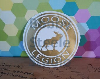 Moose Legion Decal - Moose Lodge - for car / yeti / rtic / bottle