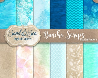 Digital Background Sand & Sea Decorative Papers