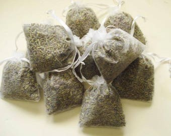 Organic Lavender Sachets, 3 sachets