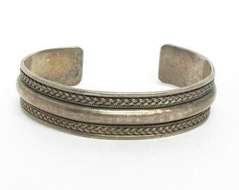 Unique 925 Sterling Silver Vintage Braided Cuff Bracelet - B013 (!!!OFFERS ACCEPTED!!!)