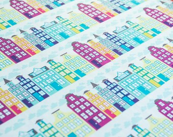 Heaven and Helsinki City Block for Michael Miller Fabrics by the half meter