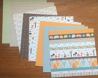 Autumn Card stock  / 6 x 6 Paper / Card Stock / Scrapbook Paper / Scrapbooking / Card Making Paper / Paper Stock / Fall colors paper