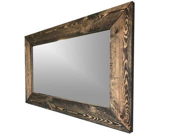 Large rustic mirror