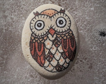 pebble art, pocket stone, owl, owl on the rock, owl drawing, owl on the pebble