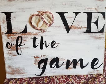For the love of the game wall decor