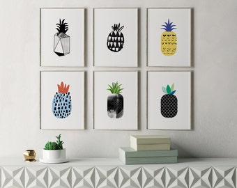 Modern Kitchen Art Etsy