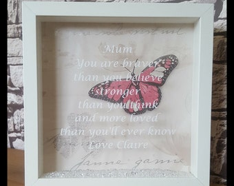 Mum frame, mum gift, personalised frame, personalised gift, Mother's Day gift.