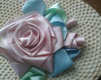 Ribbon millinery rose blossom