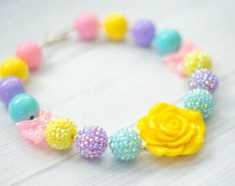 Pastel Chunky BubbleGum Necklace
