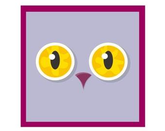 Sweet Owl Friend! Fine Art Print Perfect for Kid's Room