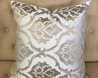 """Ivory Camilla 20""""x20"""" Pillow Cover"""