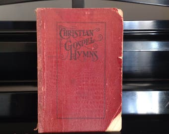 1909 Christian Gospel Hymns Red Songbook