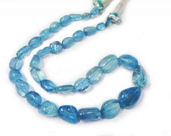 AAA Quality Aquamarine smooth nugget(finest cut and polish) \17.5 inch strand approx