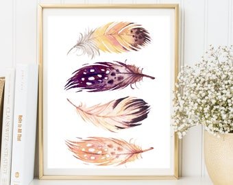 Feather Wall Art feathers wall art feathers printable feathers print
