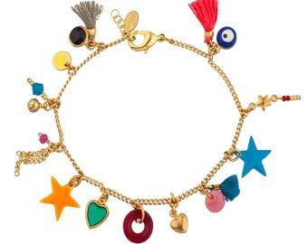 Charm Bracelet Yellow Gold