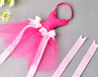 Pink Tutu Hair bow Holder, Hair bow Organizer, Hair Clip Holder, Hair Clip Display, Girl Bow Holder