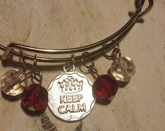 Keep calm and carry on bracelet