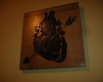 Carved Heart with Arrow