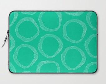 Green Laptop Sleeve 13, Laptop Sleeve 15, Laptop Sleeve Macbook Pro 13, Pattern Laptop Sleeve,  Laptop Sleeve