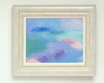 Stormy Sky Oil Painting Print #2 (unframed)