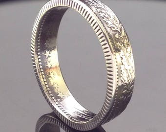 Switzerland 1 Franc Coin Ring (1850-Present)