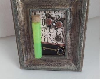 "Frame decorative steampunk ""fluo potion"""
