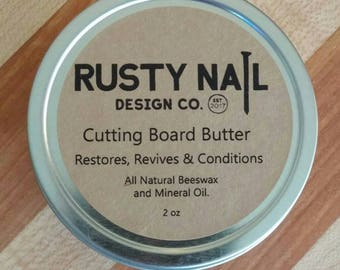 Beeswax & mineral oil Board Butter Cutting Board Finish. Food safe. Butcher Block Finish, Spoon Butter, Cutting Board Care. Beeswax polish.