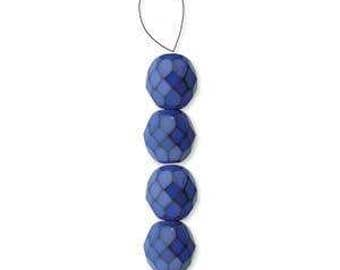 Cobalt Blue Snake Special Finish Fire Polished Bead Mix