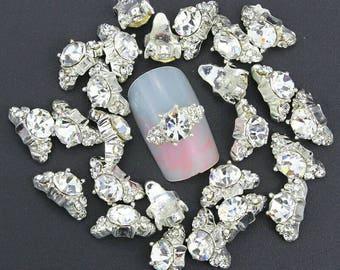 10pcs/lot bijoux ongles 3d nail art rhinestone decoration  nai DIY Alloy Jewelry Charm Nail Art Decoration Nail Supplies. Nail Glue.