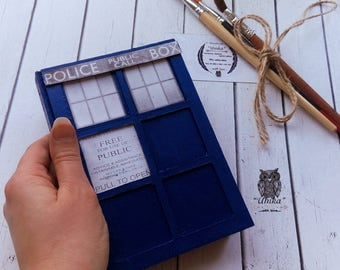Notepad notebook Doctor Who Tardis Blue