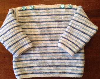 Sweater for 12-month-old baby, knitted hand