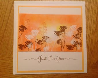 Hand crafted sunset card