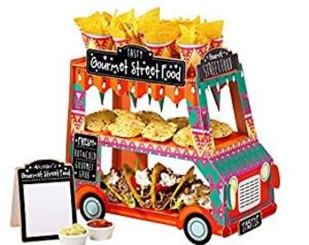 Street Stalls Gourmet Food Tier Van Stand