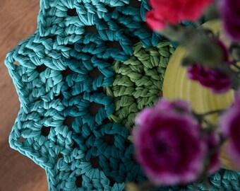 Mint Green Crochet Star Placemat