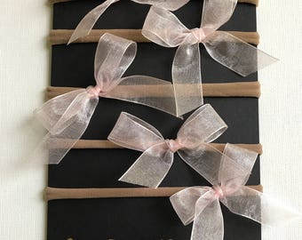 Party Pack of Dainty Pink Bows
