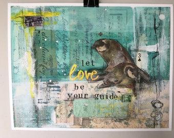 Let love Guide - Textured Fine Art Giclée